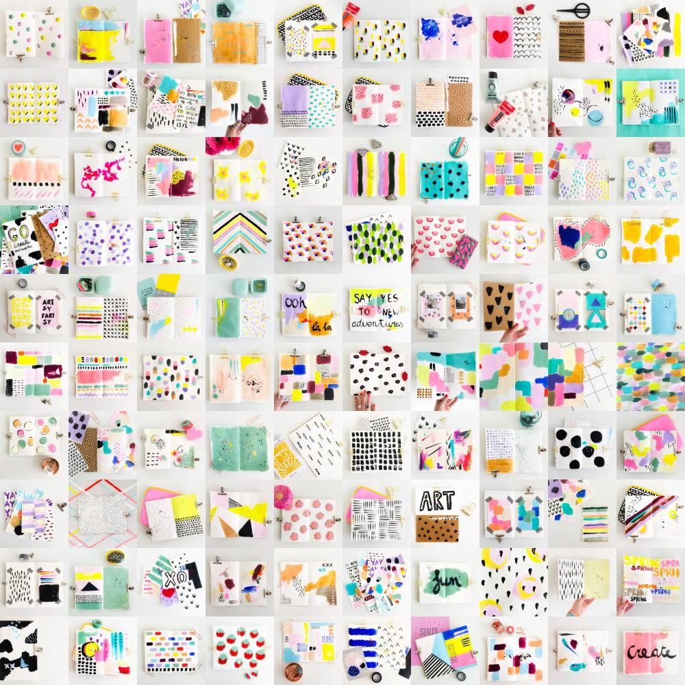 elma de jonge carnet creatif 100days