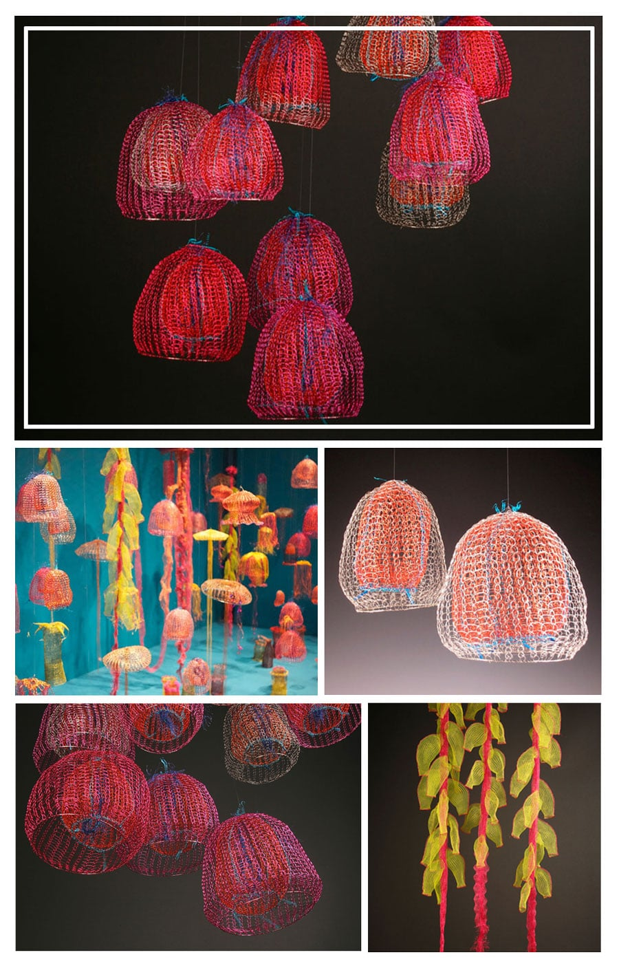 meduses art textile Arline Fisch